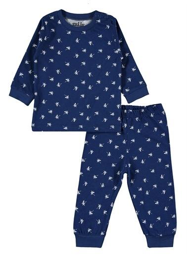 Kujju Kujju Erkek Bebek Pijama Takımı 6-18 Ay Gri Kujju Erkek Bebek Pijama Takımı 6-18 Ay Gri Lacivert